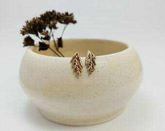 Bronze Juniper studs, Branches, Cedar Jewelry, Botanical Earrings, Bronze earrings, Sterling silver, Cedar earrings, Nature jewelry