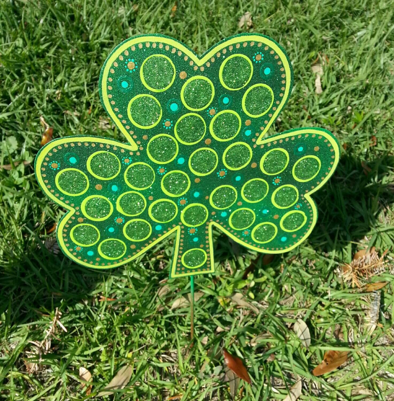 St. Patricks Day Decoration Shamrock Garden Decor St.