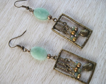 Bird in the window Earrings