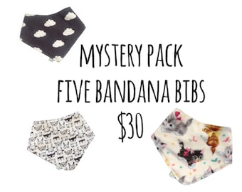 Mystery Pack - Five Bandana Bibs