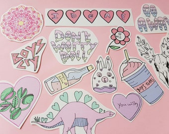 Pink Aesthetic Alt Stickers