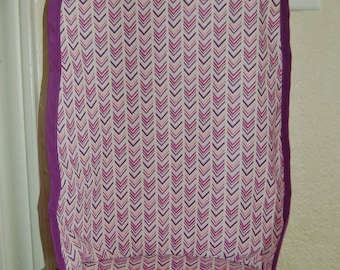 Purple chevron doll stroller replacement seat