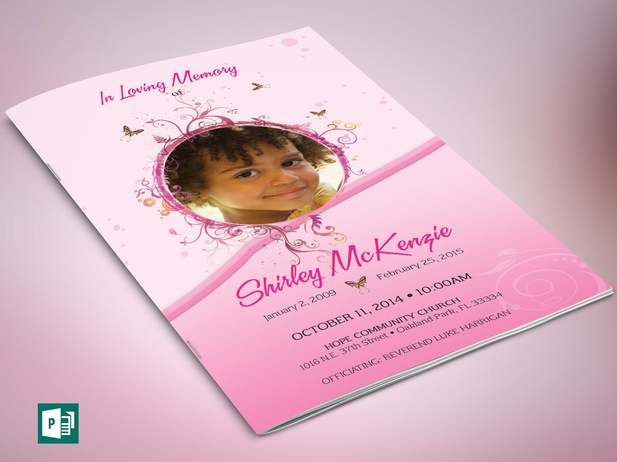 Pink princess funeral program publisher template zoom pronofoot35fo Gallery