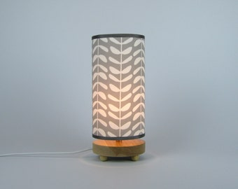 Leafy Stems in grey Table Lamp