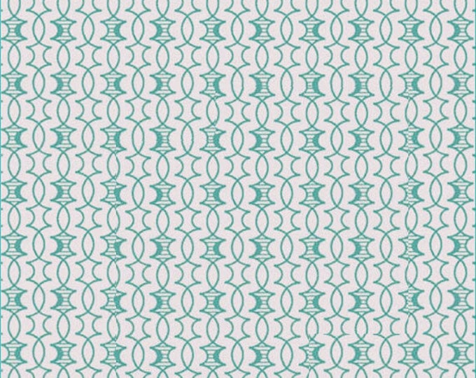 HEADS UP - Trellis in Aqua Blue - Cotton Quilt Fabric - Studio 8 for Quilting Treasures Fabrics - 24256-Q (W4053)