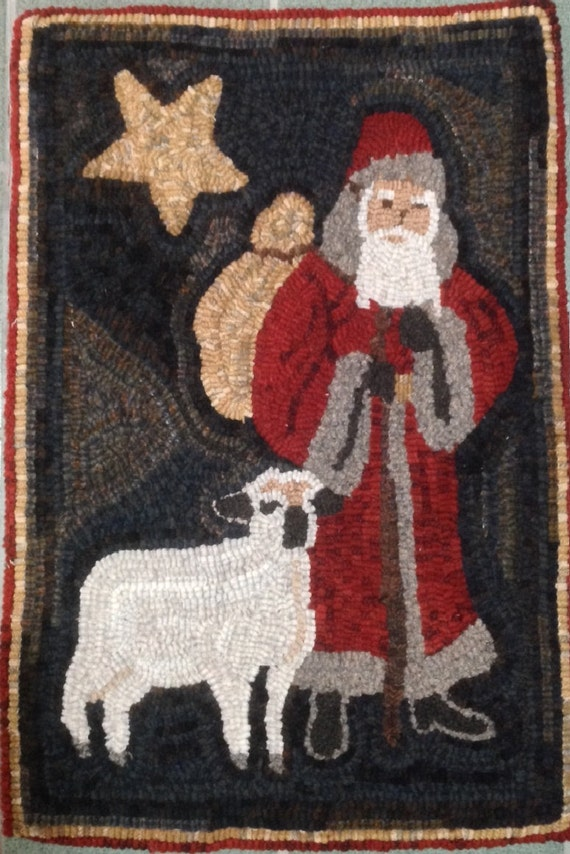 "Rug Hooking Pattern, Christmas Shepherd 16"" x 24"", P119"