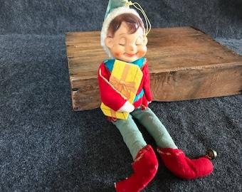 Vintage Christmas elf large