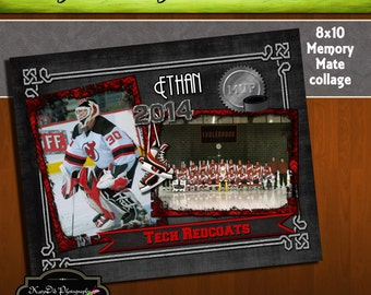 8x10 Memory Mate SLAPSHOT Hockey Collage or Storyboard Now Available for INSTANT download  PSD Template