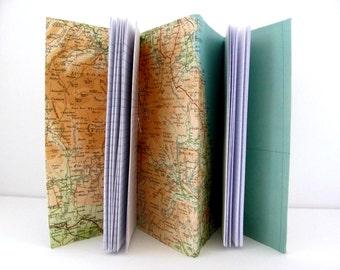 Yorkshire journal, Yorkshire gift, Travel journal, Map journal, Keepsake journal, Vintage map notebook, Honeymoon gift, Anniversary