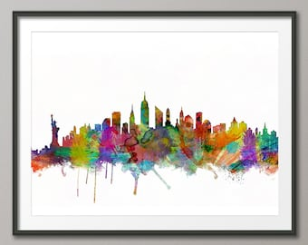 New York City Skyline, Art Print (1200)