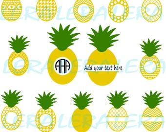 60 % OFF, Pineapple Monogram SVG, Pineapples SVG File, Pineapple Pattern svg, png, eps, dxf, Pineapple Silhouette, Pineapples cut files