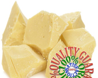 100% PURE COCOA BUTTER (8 oz) natural organic cold press
