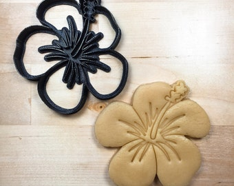 Hibiscus Cookie Cutter 3D Printed