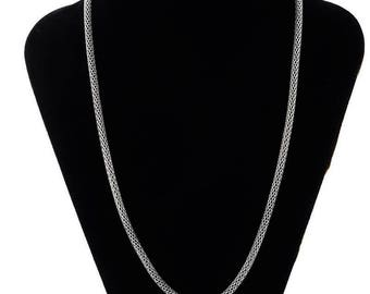 This necklace lightweight stainless steel snake, 53 cm 3 mm thick