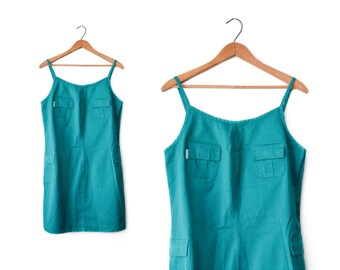 90s cotton jumper dress | M