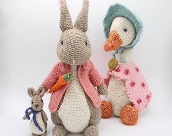 Handmade crochet Peter rabbit bunny