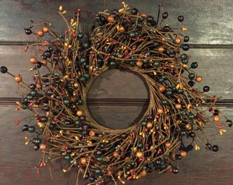 Pip Berry Wreath-Large Candle Ring-Primitive Wreath - Rustic Wreath - Pip Berry Centerpiece - Mini Wreath - Door Decor - Free Shipping