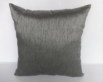 Dark Gray cushion cover - throw pillow- 18 inch price for set of 2 on 20% discount