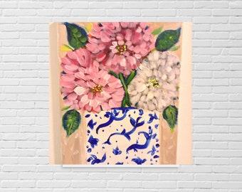 Floral still life Pink peonies garden 8x10 diane Christian art shabby chic, cottage art