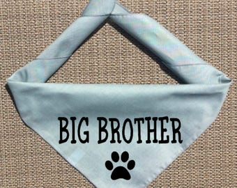 Dog Pregnancy Announcement Bandana, Big Brother Dog Bandana, Big Brother To Be Pregnancy Announcement, Big Sister in Training, Big Sister