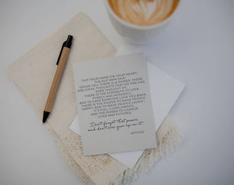 Inspiration Card | Atticus | Encouragement Card | Letterpress Card | You've Got This | Graduation | Sympathy |