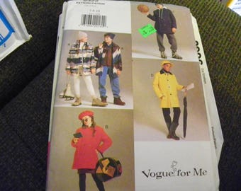 Sewing Pattern - Vogue For Me 9322 - Boys', Girls' Coat And Vest - Size 7 - 8 - 10