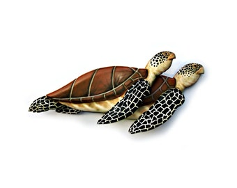 Sea Turtle wood carving, turtle decor, turtle wall hanging, beach decor, coastal living, marine decor, wildlife decor, turtle art, wall art.