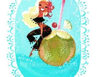 Coco Loco fine art mini print