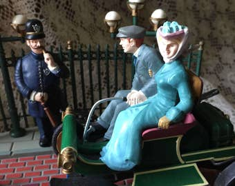 Enesco Rare The Sunday Drive Victorian Multi Action Working Music Box Limited Edition 1988 Free Domestic Shipping