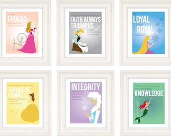 Princess Personal Progress Posters with Quotes