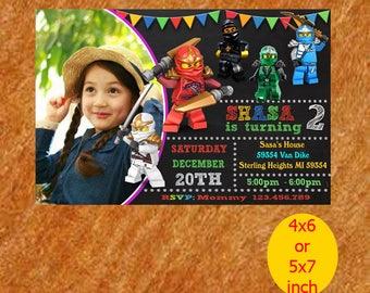 Ninjago Invitation / Ninjago Birthday / Ninjago Birthday Invitation / Ninjago Party / Ninjago Birthday Party / Ninja Lego Printable