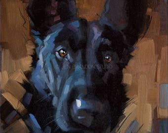 Dog Pet Portrait - Alla Prima Painting