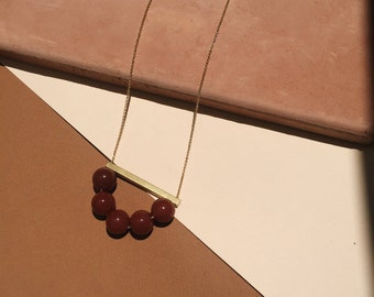 TERRA: Long Gold Filled Necklace