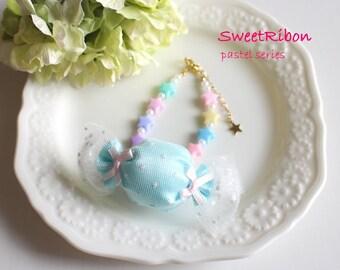 Fairy kei Kawaii Girly Harajyuku Candy Pastel Star Bracelet MINT GREEN