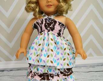 """Ruby's Sun Top and Izzy's Skirt 15"""" and  18"""" Doll PDF Pattern"""