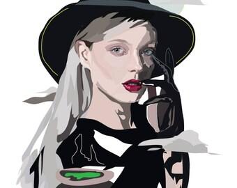 Halloween Witch - Art Print