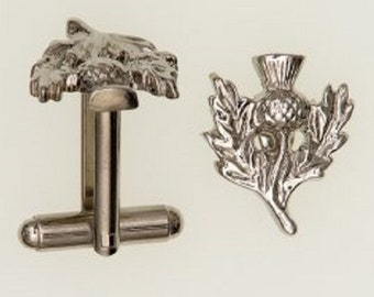 Scottish Thistle Pewter Cufflinks