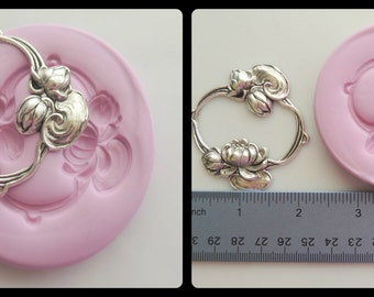 Silicone Mold Flower Wreath Mould Resin Polymer Clay Mold