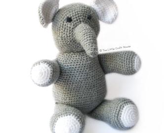 Amigurumi Patterns Elephant : Happyamigurumi new pattern in mio the elephant and mia the