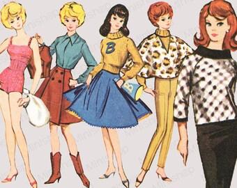 Barbie doll Sewing Pattern: 7311
