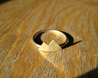 Sterling Silver Double Mountain Twin Peaks Ring Made to Order