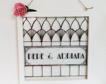 Custom Stained Glass Wedding