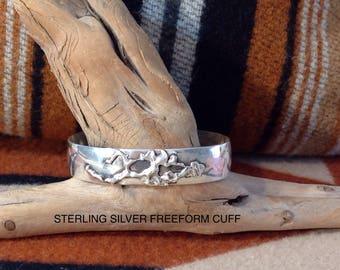 Sterling freeform cuff