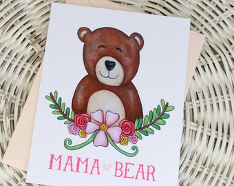 Mother's Day Notecard - Mama Bear