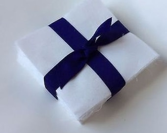"100 Pure White Moda  pre cut charm pack 5"" squares 100% cotton fabric quilt"