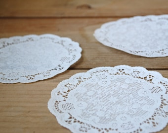 """S A L E - 25 French Paper Doilies (5"""")"""