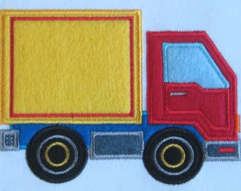 Freight Truck applique machine embroidery