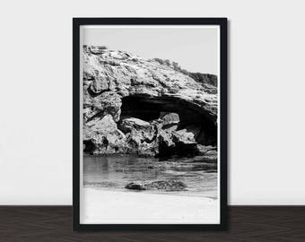 Black and White Home Decor, Coastal Decor, Travel Photography, Coastal, Prints, Printable, Art Prints, Living Room, Wall Art Printable