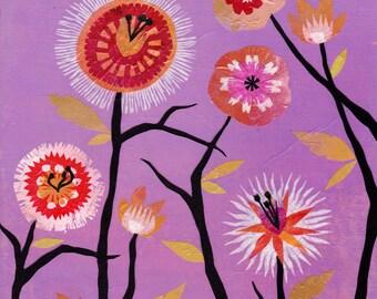 Merry Springtime - 16 x 20 inch Cut Paper Art Print