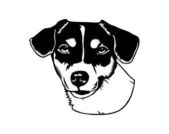 Jack Russell Terrier Car Decal